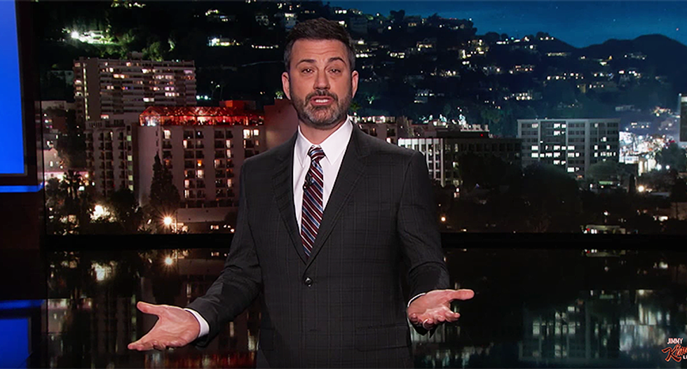 Watch: Jimmy Kimmel rips Trump and the GOP's 'allegedly Christian men' who refuse to do anything about guns
