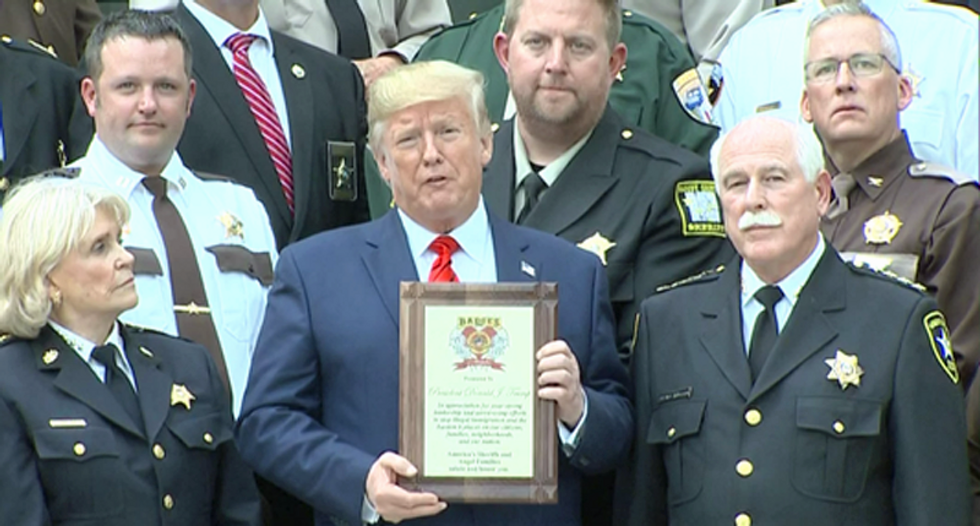 'We got your back, Mr. President': Right-wing sheriffs vow loyalty to Trump at White House event