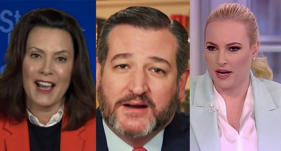 Michigan governor fact-checks Ted Cruz and Meghan McCain after they push false claims about her lockdown orders