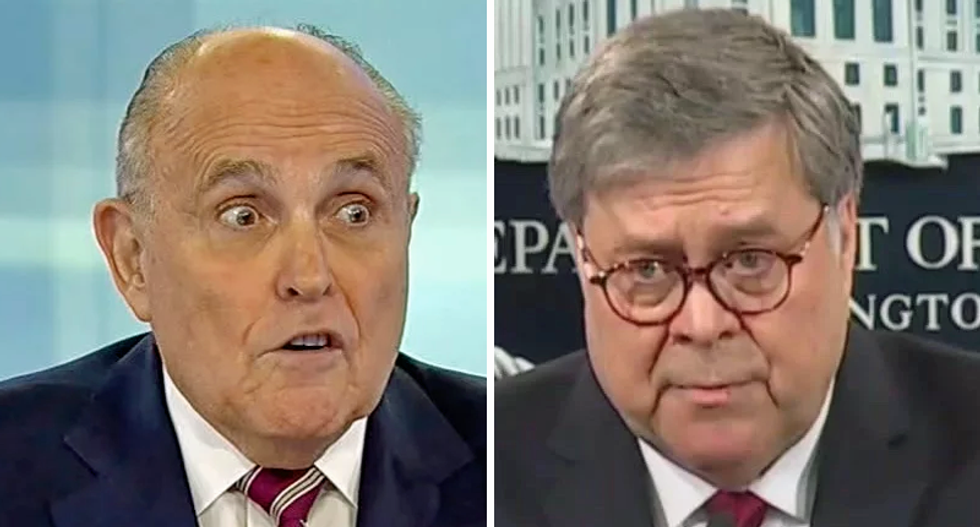 Rudy Giuliani lashes out at Bill Barr after DOJ finds no widespread election fraud
