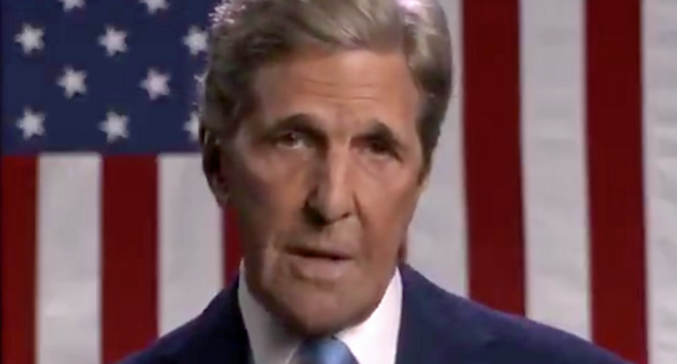 John Kerry slams Trump for his 'blooper-reel' foreign policy that makes America the butt of jokes overseas