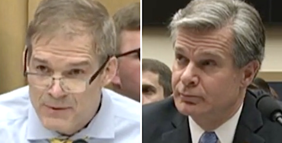 GOP's Jim Jordan exasperated after Trump's FBI director responds to his rant with 'do you have a question?'