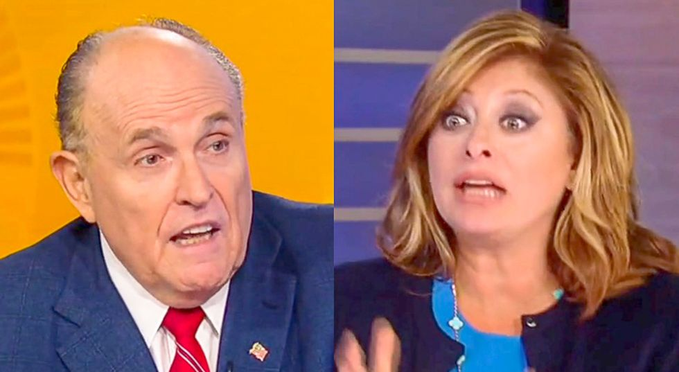 'Where are the indictments?' Fox News host forced to yell at unhinged Giuliani to get answers about Ukraine