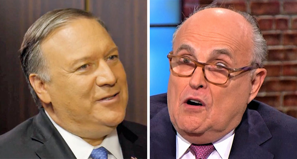 Blistering WaPo editorial torches Mike Pompeo and Rudy Giuliani for 'the destruction of U.S. diplomacy'