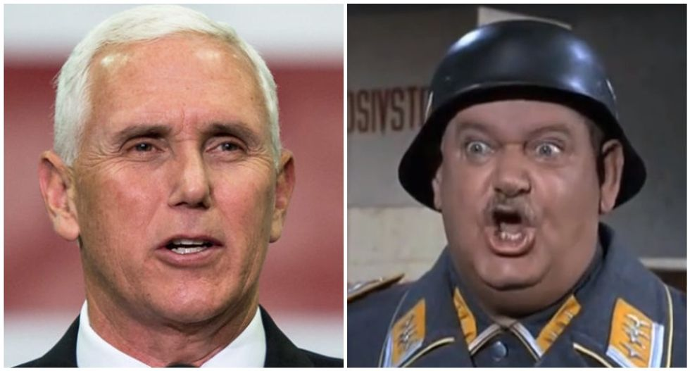 Mike Pence busted for using the 'Sgt. Schultz defense' to deny knowledge of Ukraine scandal