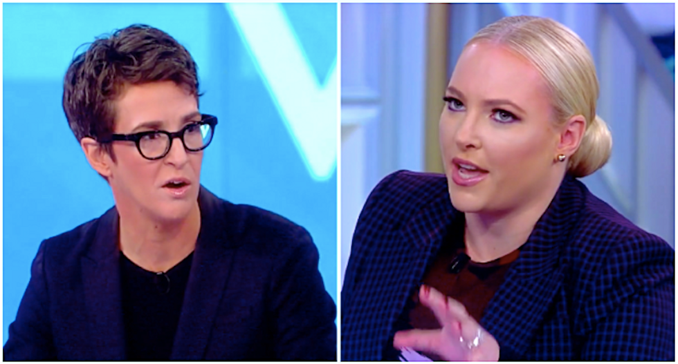 Rachel Maddow calmly destroys Meghan McCain's talking points on Adam Schiff and impeachment