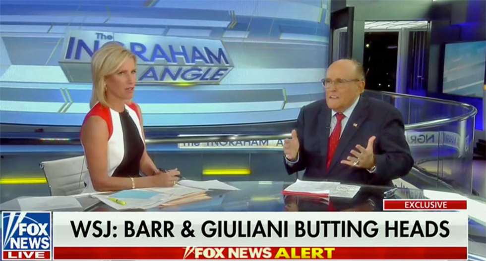 Rudy Giuliani vows to Fox News he never spoke to Bill Barr about the Ukraine scandal