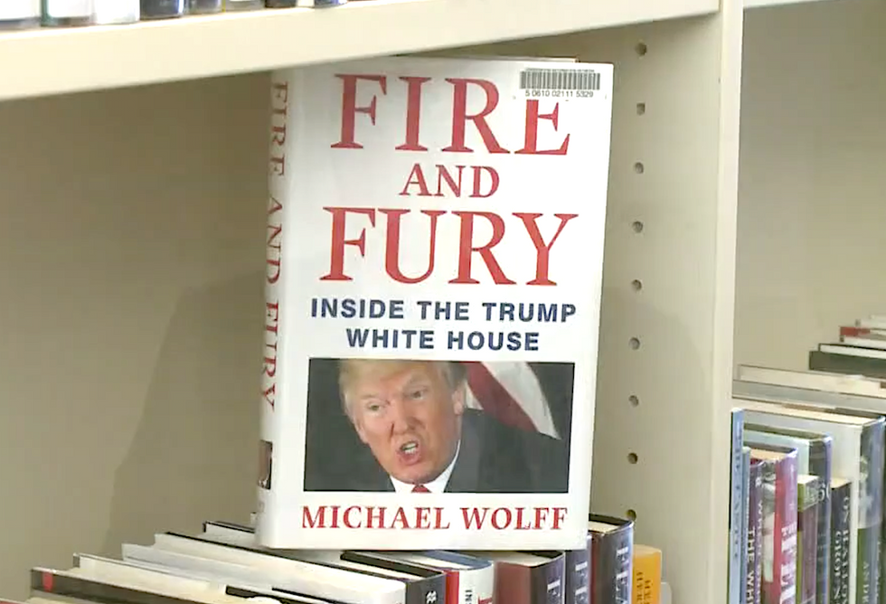 Mysterious library patron keeps hiding books critical of Trump -- but the effort is backfiring