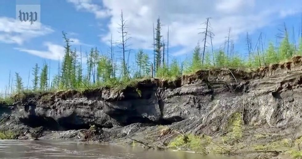 Report shows 'stunning and dramatic' scenes of thawing permafrost in Siberia that 'leaves millions on unstable ground'