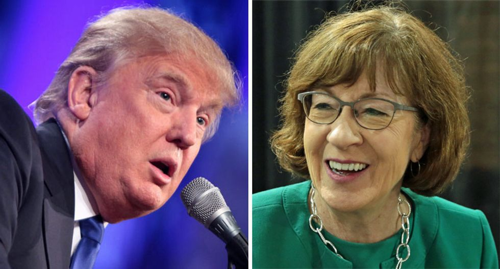 Susan Collins ripped Trump for 'completely inappropriate' behavior — here's why he can't attack her