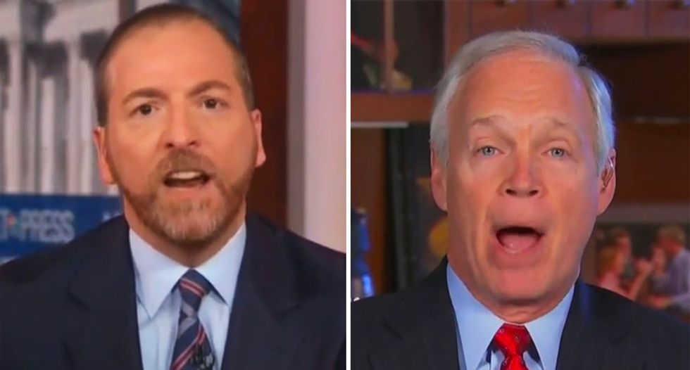 Chuck Todd blows up on Ron Johnson in stunning shouting match after Trump defender refuses to answer his questions