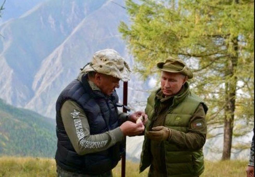 Putin puts on birthday show gathering mushrooms