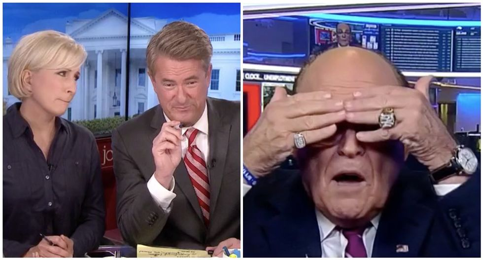 'Two words -- not well': MSNBC's Morning Joe and Mika cringe at Rudy Giuliani's Fox News meltdown