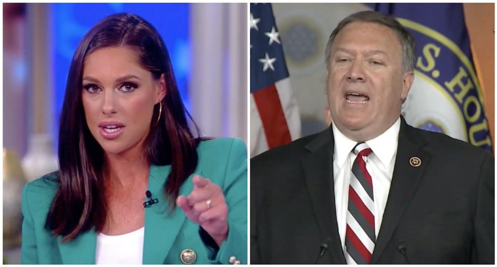 The View's Abby Huntsman busts Mike Pompeo's hypocrisy with video of him ranting about Benghazi 'obstruction'