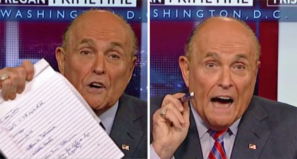 Watch Rudy Giuliani completely lose it on Fox while shouting that his fake scandal implicates Obama