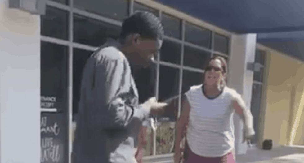 WATCH: Furious Florida woman has a racist meltdown after black teen drops a gum wrapper
