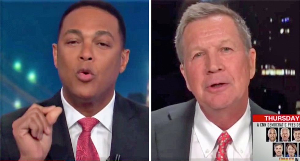 'You are part of the problem': Don Lemon rips John Kasich as a Trump 'apologist' in heated interview