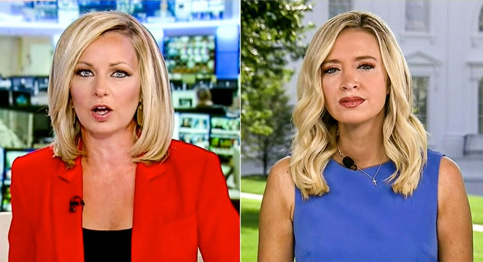 'Good hardworking people': Kayleigh McEnany defends Trump's praise of QAnon as she's grilled on Fox News