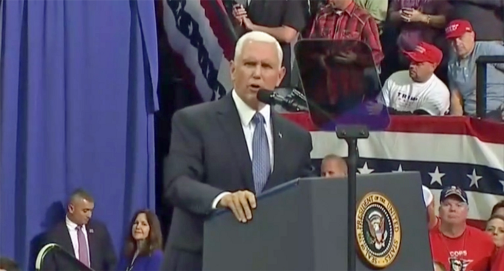 'Have faith': Mike Pence urges 'prayers' for Trump at #MAGA rally as impeachment inquiry heats up