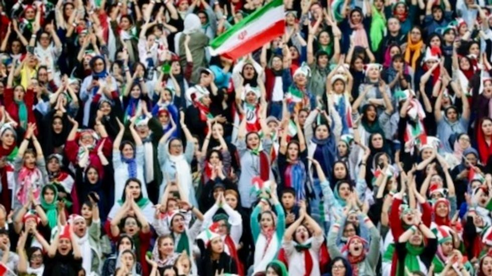 Iran women freely attend soccer match for first time in decades
