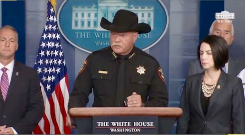Texas sheriff at White House briefing: If Immigrants are released 'drunks' will 'run over your children'