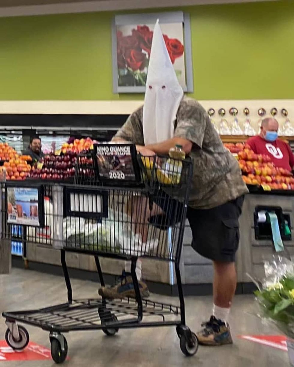 Man who wore KKK hood to San Diego-area grocery store won't be charged
