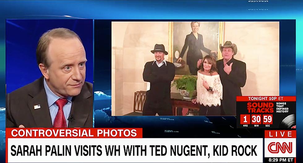 'White-trash Mount Rushmore': CNN pundit Paul Begala slams Palin, Nugent, Kid Rock pic