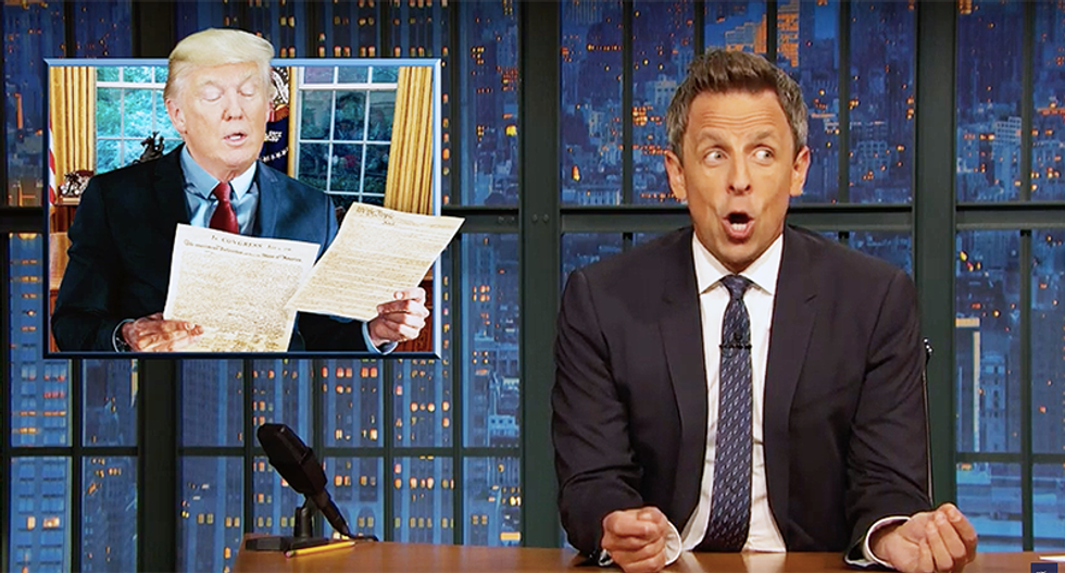 Seth Meyers: Trump is going to lose it when he finally reads the Constitution one day