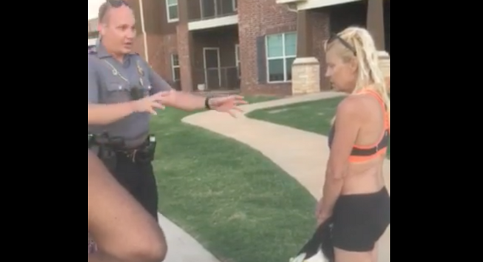 WATCH: 'Depressed' white woman calls cops on black pool-goers who refused to comfort her
