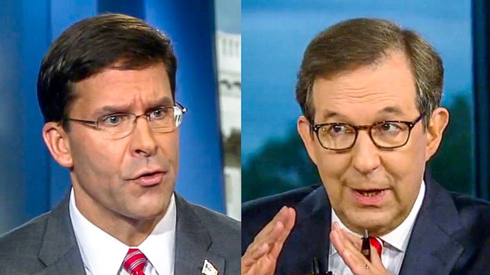 Chris Wallace shreds Trump's defense secretary for 'abandoning the Kurds' to be slaughtered by Turkey