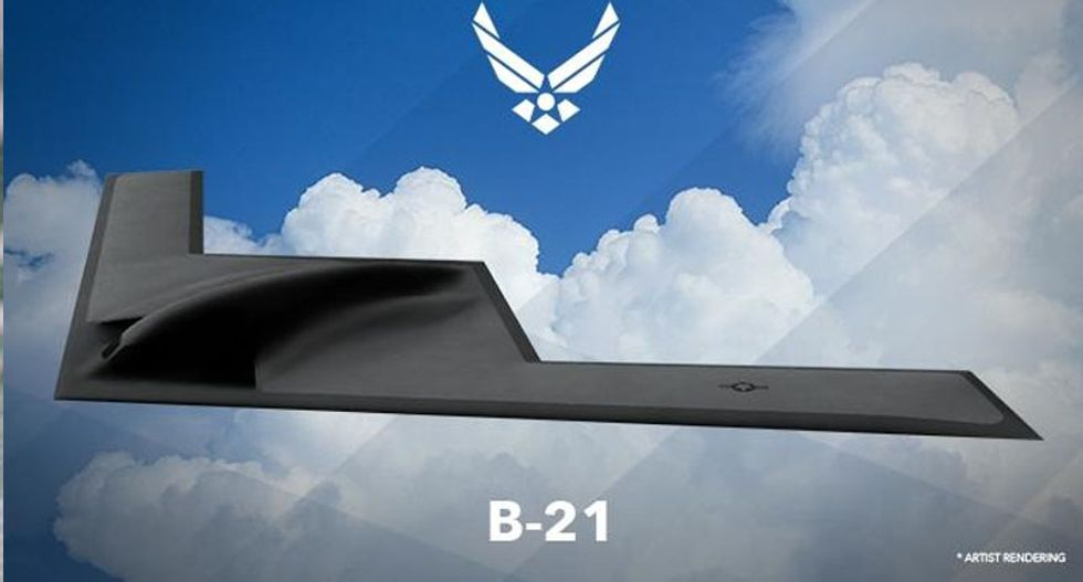 US Air Force unveils picture of new stealth bomber
