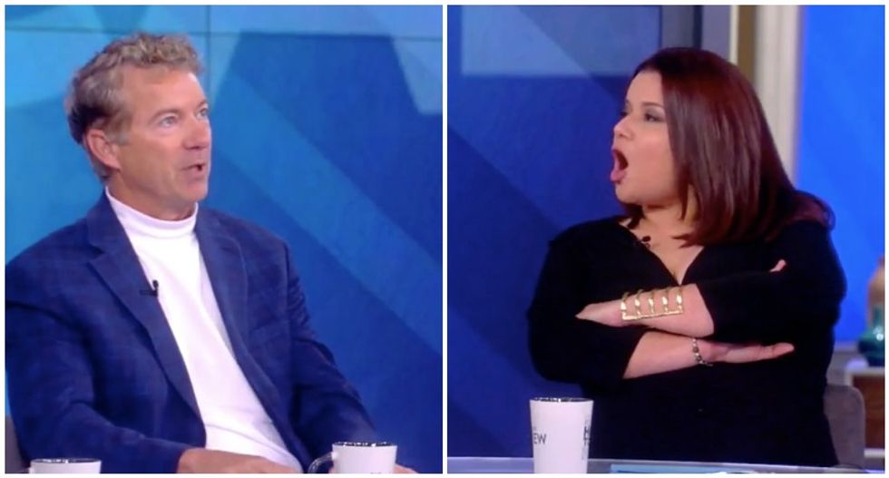 Rand Paul gets laughed off the stage by The View crowd: 'Our audience says that's not true!'