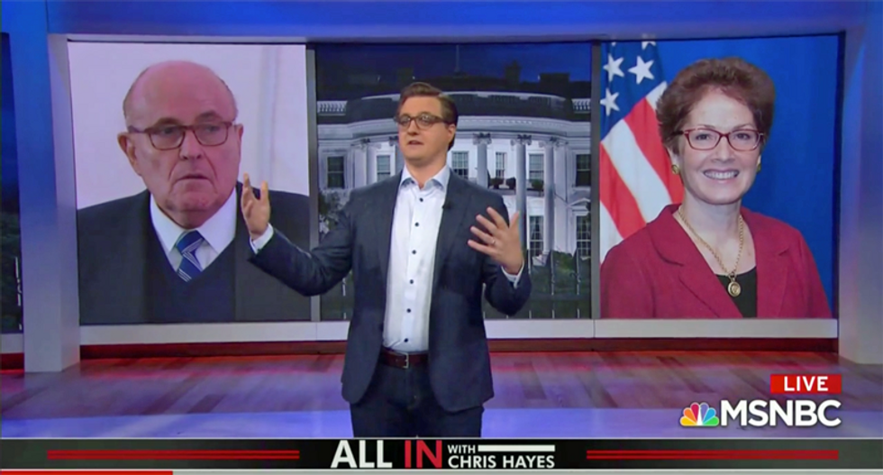 'Rudy Giuliani is just a fixer with a law degree': MSNBC anchor reveals why Trump's scheme won't work