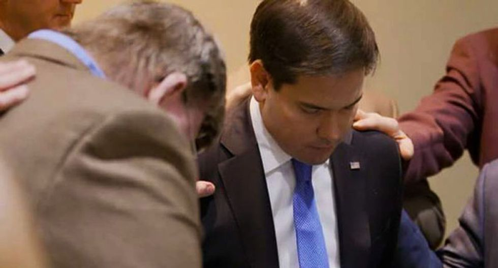 Hobby Lobby founder endorses Rubio: Trump 'scares me to death' but Marco 'gives the glory to God'