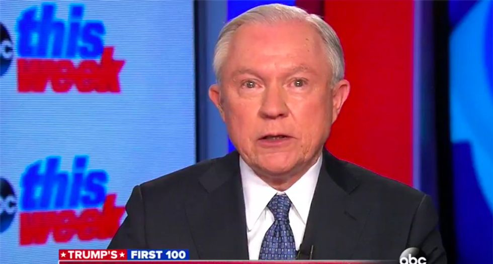 It will be 'paid for one way or the other': Sessions ducks question on how to force Mexico to pay for the wall