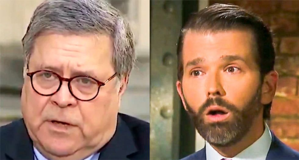The downfall of Steve Bannon looks really bad for Bill Barr and Donald Trump Jr.