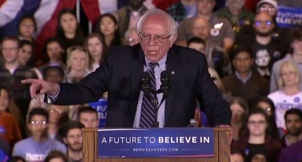 Bernie Sanders bashes Wall Street in sweeping speech: 'Democracy is not a spectator sport'