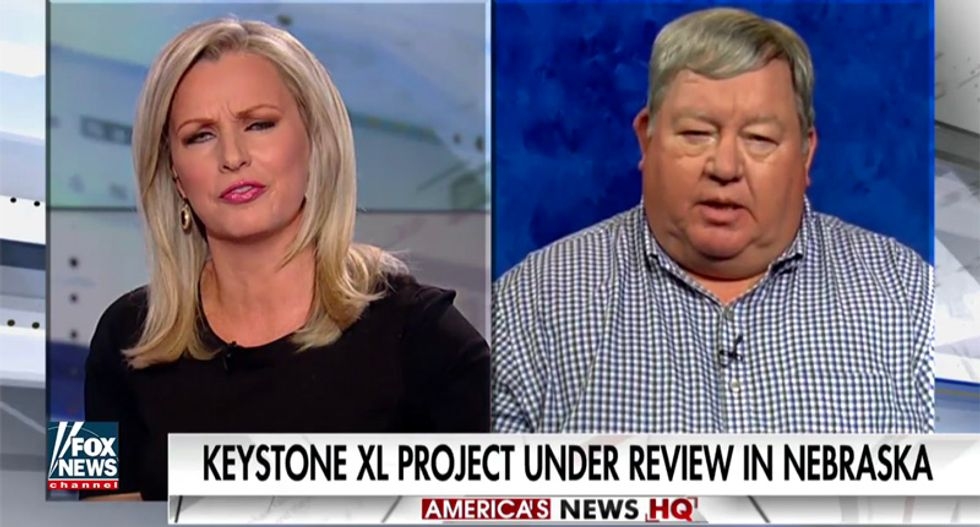 'It's not American oil': Nebraska farmer slaps down Fox host's claim Keystone XL will make US energy independent