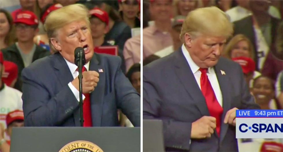 Trump impersonated a CNN anchor — and a US president -- during epic meltdown at Texas speech