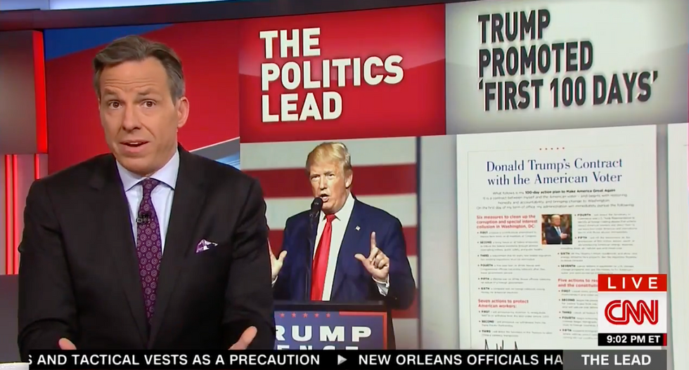 Watch Jake Tapper destroy Trump's entire first 100 days in 4 minutes