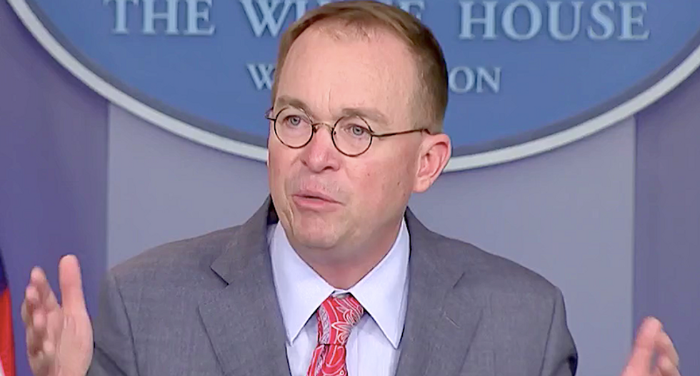 Republican analyst thinks the House Republicans are 'setting up' Mick Mulvaney to be the fall-guy for Trump