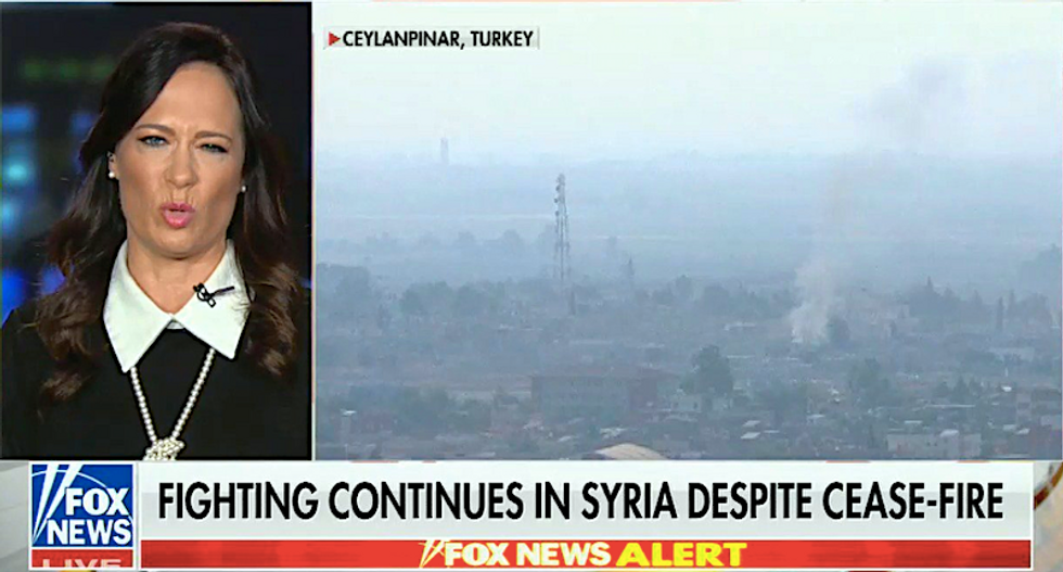 Fox News graphic busts White House press secretary for lying about Syria cease-fire