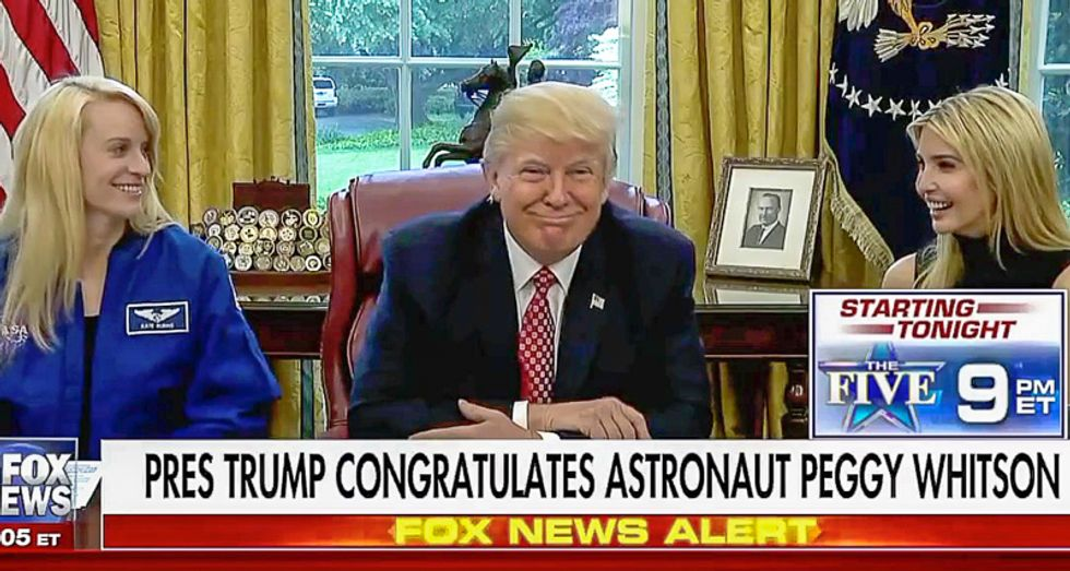 'Better you than me': NASA astronaut tells Trump drinking pee in space isn't 'as bad as it sounds'