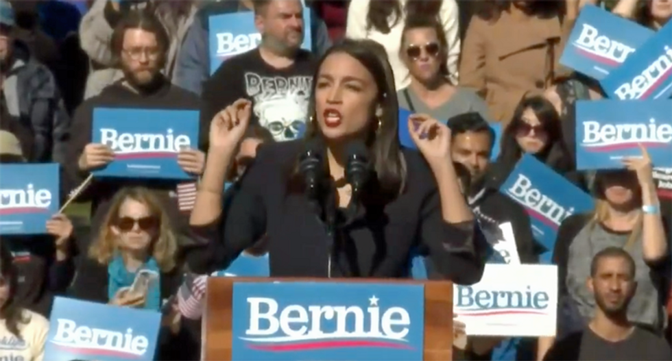 Rep AOC helped Bernie Sanders turn out 'the largest crowd drawn by any candidate': report