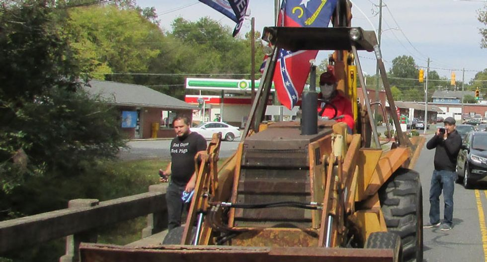 White supremacists view escalating tensions in small North Carolina town as an opportunity to radicalize armed neo-Confederates