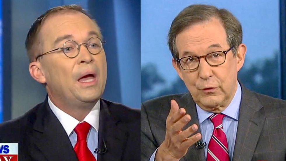 'You totally said that': Mulvaney melts down as Chris Wallace plays tape of quid pro quo admission