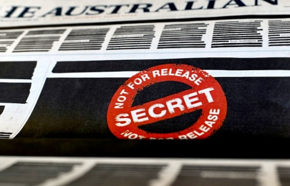 Australian papers censor front pages in press freedom campaign