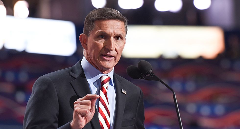 WATCH: Michael Flynn faces 'lock him up' chants as he leaves court