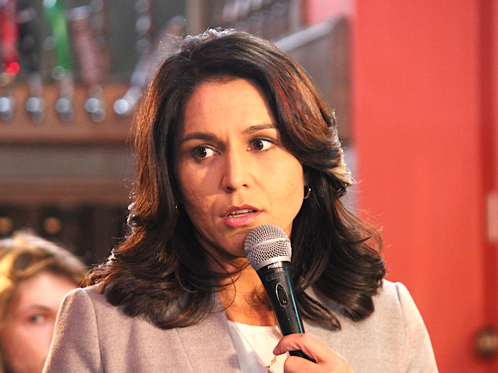 Tulsi Gabbard seems to be okay with 'warmongering' -- when it comes to Russia's bombing of Syria