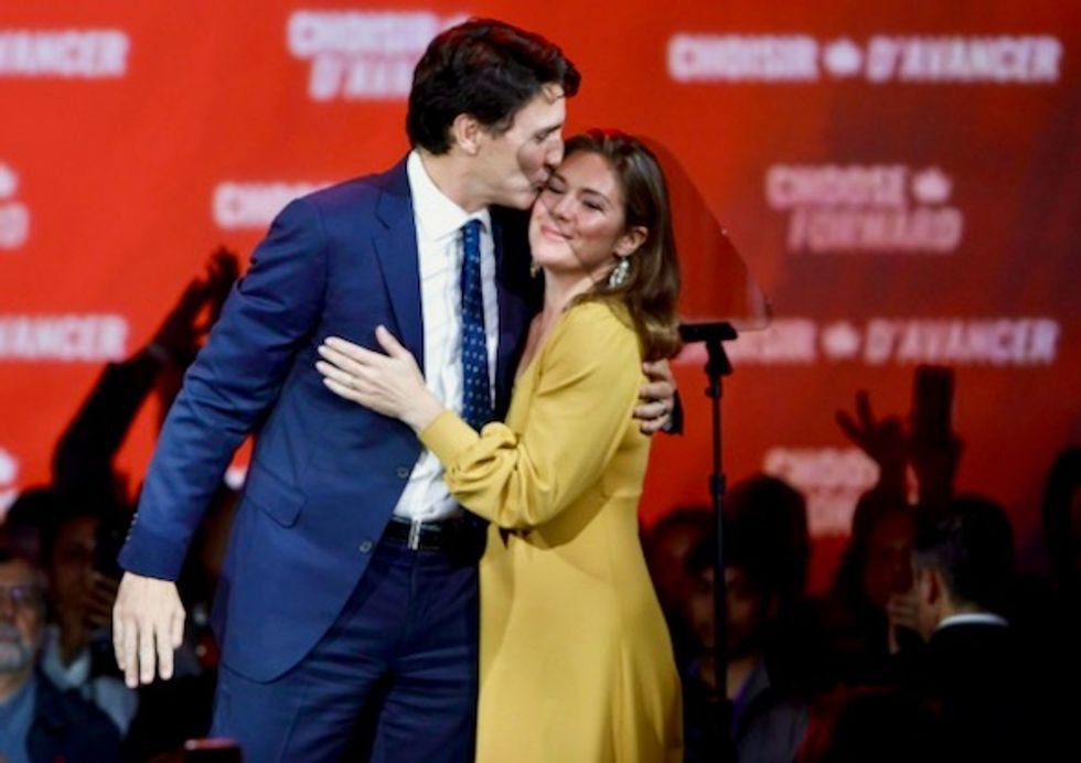 Justin Trudeau working from home as wife tested for COVID-19